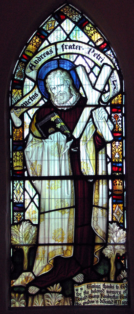 St Andrew's church in Eaton - C19 stained glass