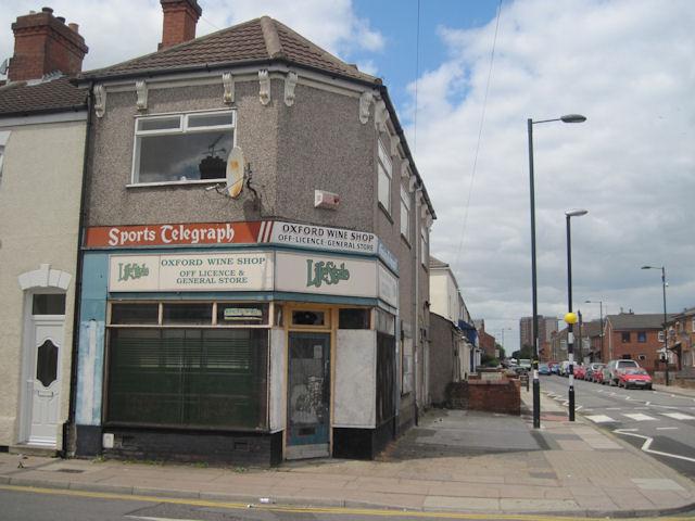 Closed Wine shop on Oxford street