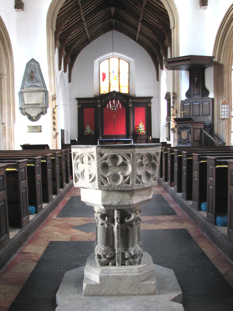 St George Colegate, Norwich - C14 baptismal font