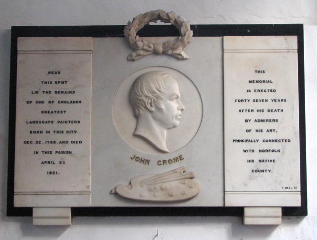 St George Colegate, Norwich - C19 memorial