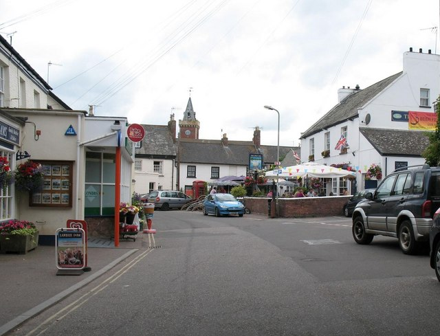 Lympstone: The Strand with the Swan Inn