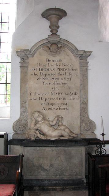 St George Colegate, Norwich - C18 memorial
