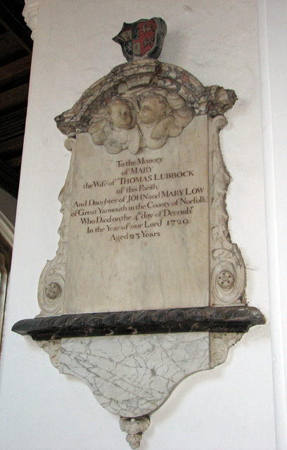 St George Colegate, Norwich - C18 memorial