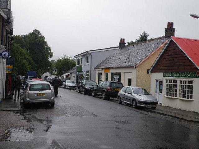 Taynuilt village street scene