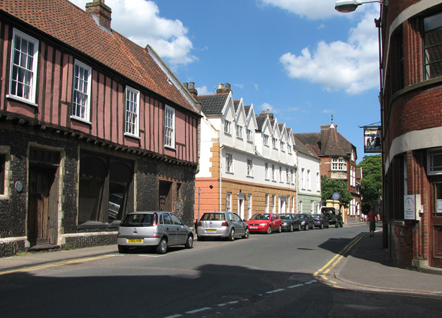 View east along Colegate, Norwich