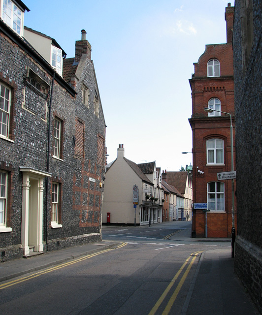 Approaching Colegate from St George Street, Norwich