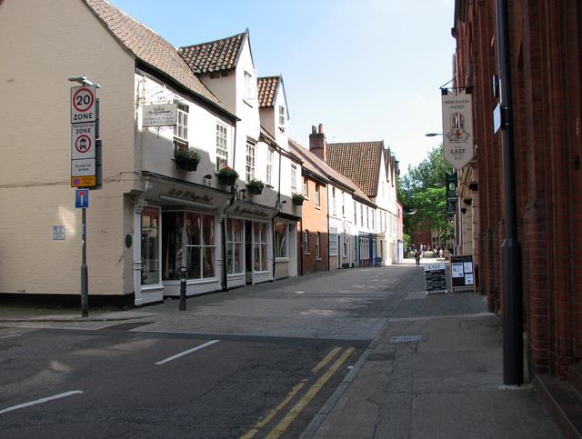 Shops in  St George Street, Norwich