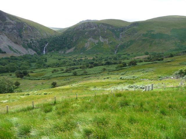 Part of the valley of the Afon Rhaeadr-fawr