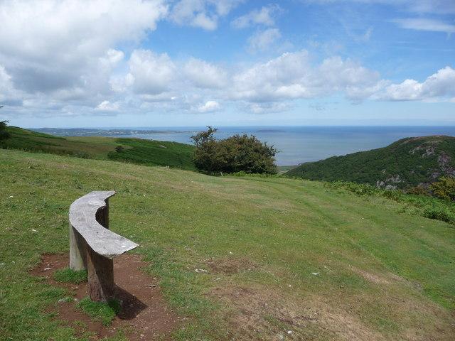 Bench with coastal views