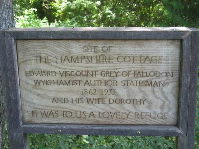 Memorial Plaque to Former Cottage