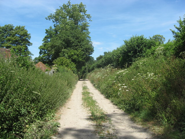 Access road to St Mary's Rectory