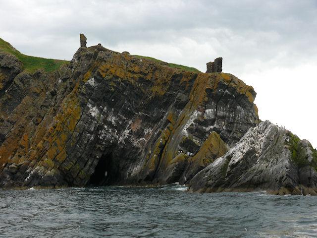 Fast Castle from seaward