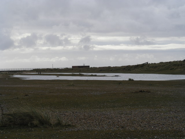 Kessingland Beach: pumphouse and outfall