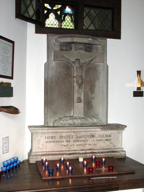 St Julian's church in Norwich - inside Mother Julian's cell
