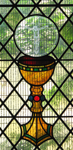 St Julian's church in Norwich - modern stained glass (detail)