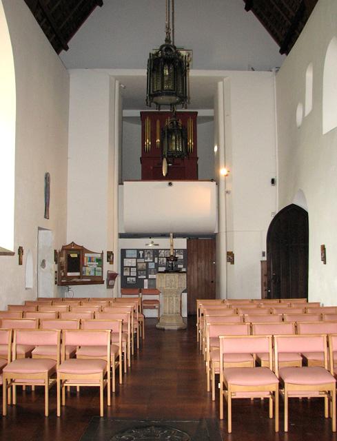 St Julian's church in Norwich - view west