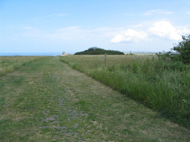 Reculver cliff-top path