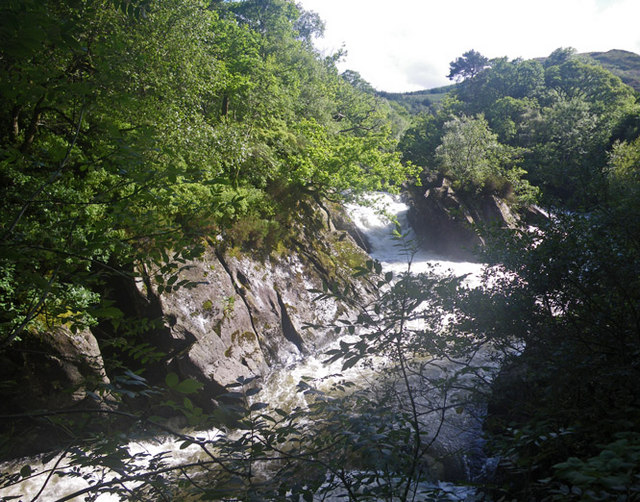 View of Falls of Leny from the footpath
