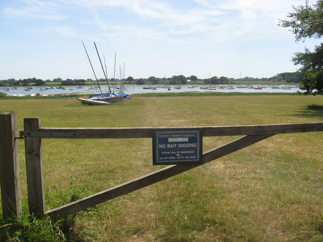 Bosham Hoe looking South to the Chichester Channel