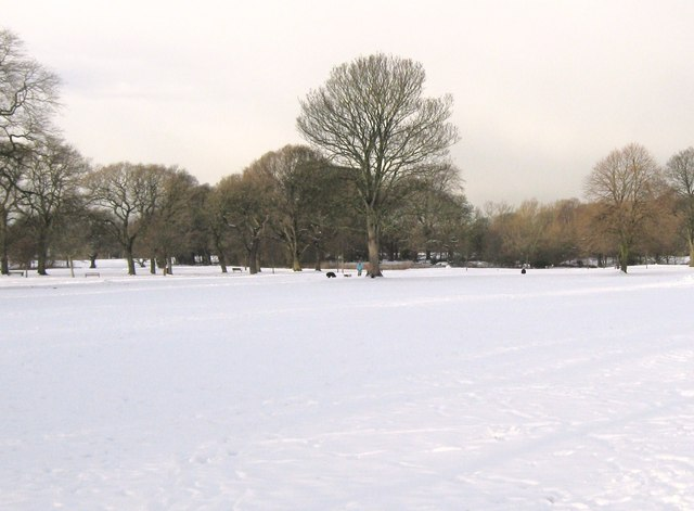 A snow covered Worden Park