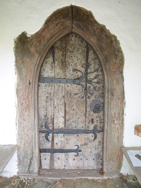 Door, St Michael's church, Raddington