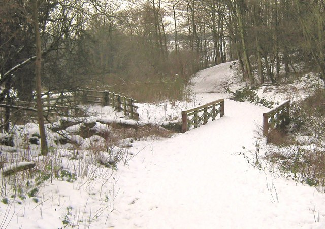A snow covered bridge