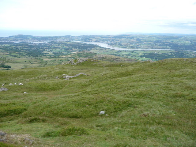 The Conwy valley from Tal y Fan