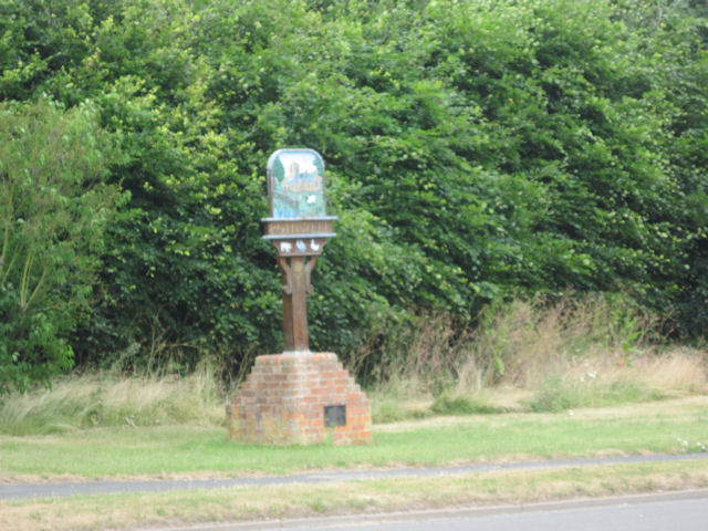 Rothwell Village sign at main crossroads