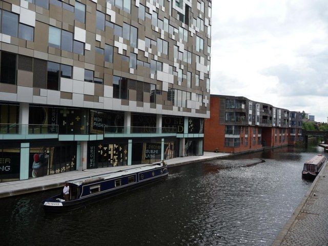 Redevelopment along the Worcester and Birmingham Canal