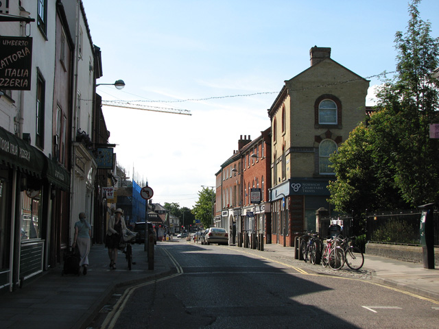 Shops and businesses in St Benedicts Street, Norwich