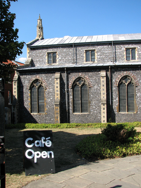 Entrance to St Swithin's church in St Benedicts Street, Norwich