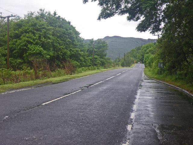 Looking along the A84 Road at Runacraig