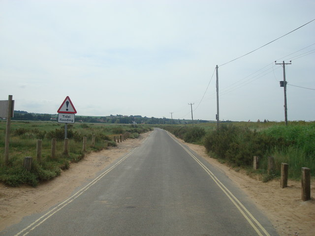 Lane across the marsh, Brancaster