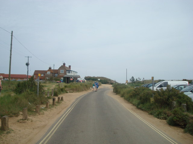Lane to Brancaster beach and the golf club