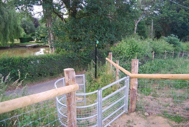 Kissing gate, Bowzell Lane