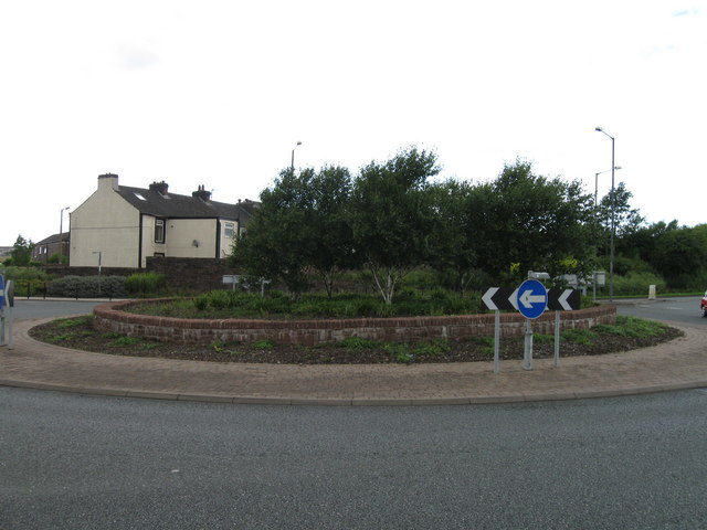 Roundabout on A595, Egremont