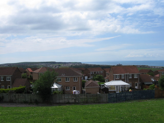 View to sea over Harras Park, Whitehaven