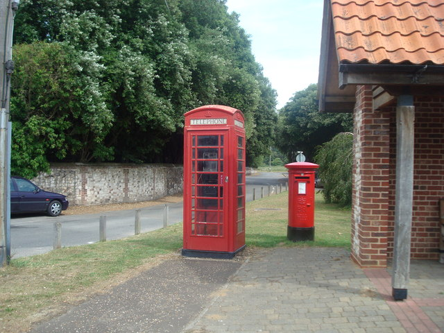 Telephone and post box,Thornham