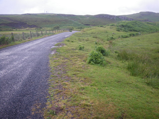 Undulating terrain along the Tobermory-Glengorm road
