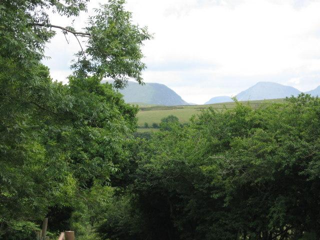View towards Lakeland Hills from Brownrigg