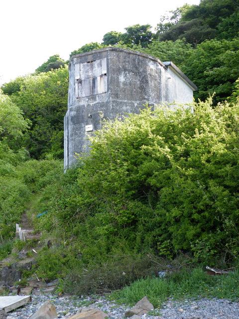 Pillbox near Cloch Lighthouse
