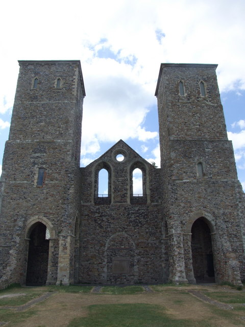 The towers of St. Mary's, Reculver