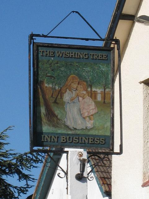 The Wishing Tree sign