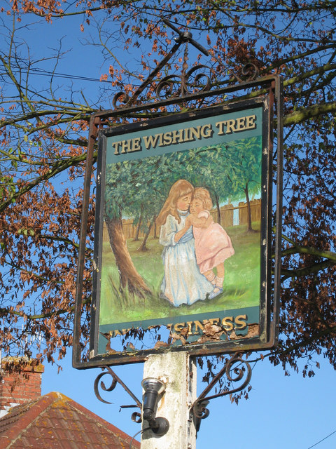 The Wishing Tree sign
