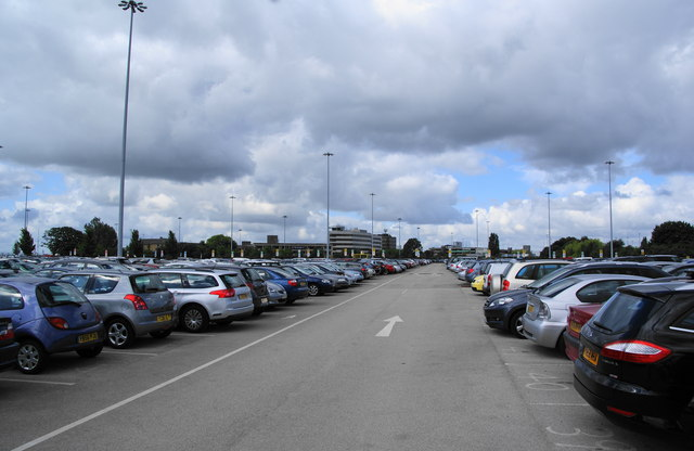 The long stay car park, Manchester Airport