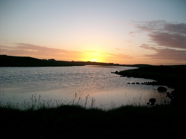 Loch Eubhal at sunset