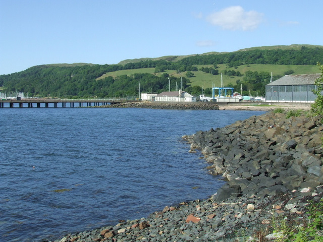 MOD jetty at Fairlie