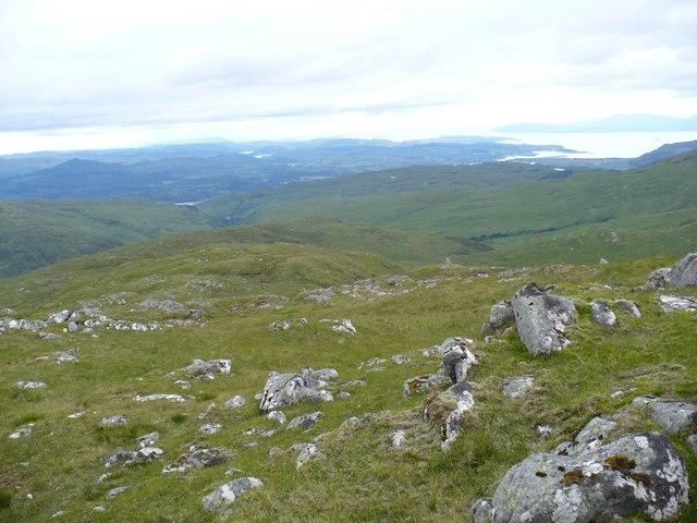 South west ridge of Beinn Molurgainn