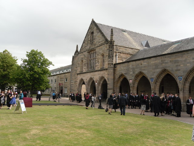 New Graduates outside Elphinstone Hall, Aberdeen University