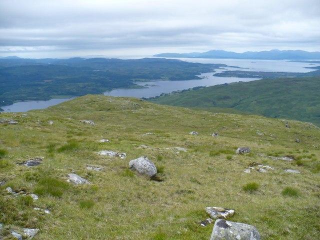 Western ridge of Beinn Mheadhonach